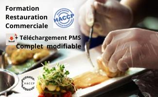 HACCP Certification DRAAF Restauration, Commerces alimentaires + P.M.S (56 fiches)